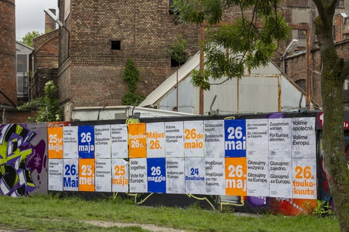 Vote together posters in Budapest